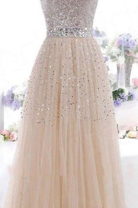 Tulle A line prom dresses, prom dresses online, discount prom dresses, dresses for prom, elegant prom dresses