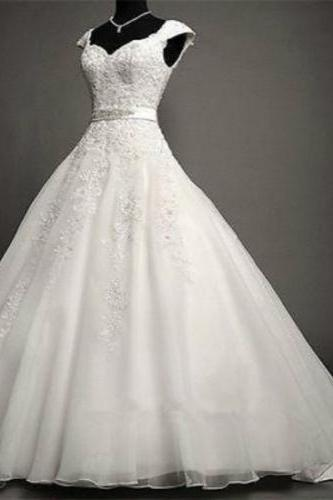 2016 Wedding Dress,Marvelous Wedding Dress,Tulle Wedding Dress,Jewel Neckline Wedding Dress, Mermaid Wedding Dress,Lace Wedding Dress, Appliques Wedding Dress,2015 Wedding Dress,Handmade Wedding Dress,Custom Made Wedding Dress